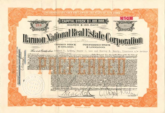 Harmon National Real Estate Corporation