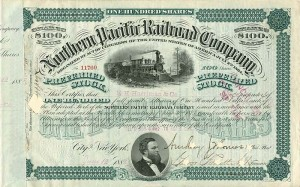 E.H. Harriman signed Northern Pacific Railroad Company