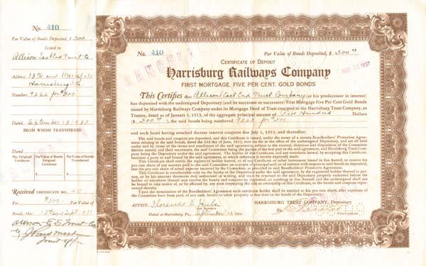 Harrisburg Railways Company - SOLD
