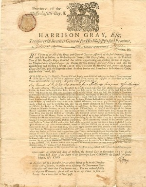 Tax Warrant signed by Harrison Gray