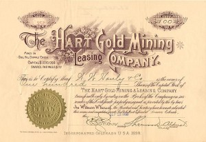 Hart Gold Mining and Leasing Company - SOLD