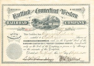 Hartford And Connecticut Western Railroad Company