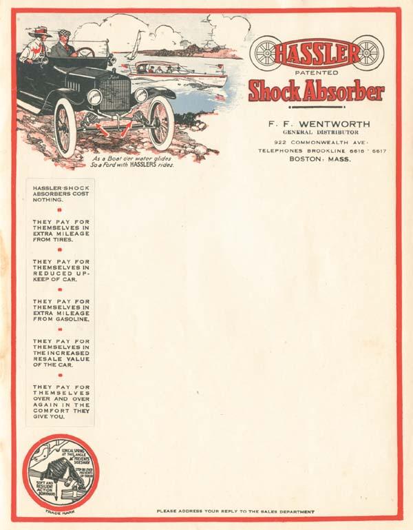 Hassler Shock Absorber Letterhead