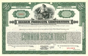 Hecker Products Corporation - SOLD