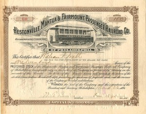 Hestonville, Mantua & Fairmount Passenger Railroad Co.
