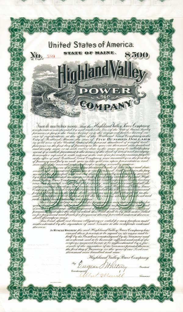 Highland Valley Power Company - Bond