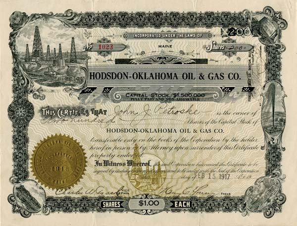 Hodsdon-Oklahoma Oil & Gas Co. - SOLD