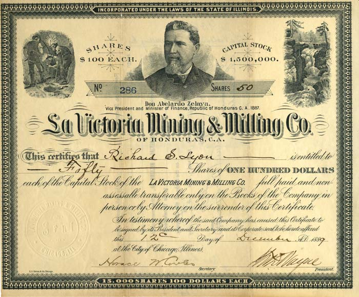 La Victoria Mining and Milling Co. of Honduras - SOLD