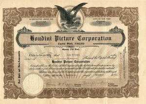 Houdini Picture Corporation - SOLD