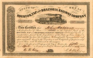 Houston, Tap and Brazoria Railway Company - SOLD