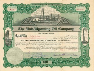 Hub-Wyoming Oil Company - Stock Certificate