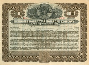 Hudson & Manhattan Railroad Company - $1,000 Bond