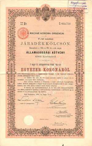 Royal Hungarian Bonds - Various Denominations
