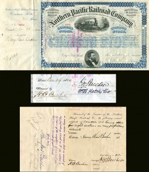 Henry Ward Beecher signed Northern Pacific Railroad Company