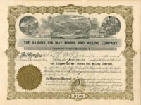 Illinois Ida May Mining and Milling Company - SOLD