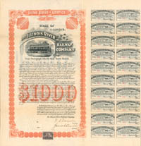 Illinois River Railway Company - $1,000 - SOLD