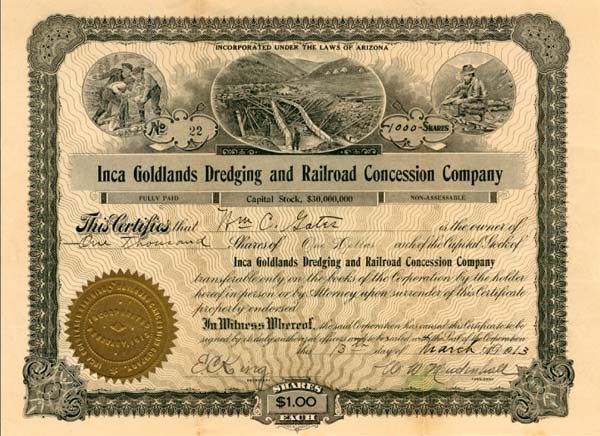 Inca Goldlands Dredging & Railroad Concession Company