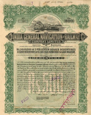 India General Navigation and Railway Company, Limited - SOLD
