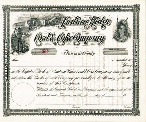 Indian Ridge Coal & Coke Co - Stock Certificate