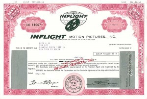 Inflight Motion Pictures - Stock Certificate