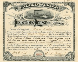 United States Inspectors' License to Pilots