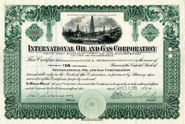 International Oil and Gas Corporation