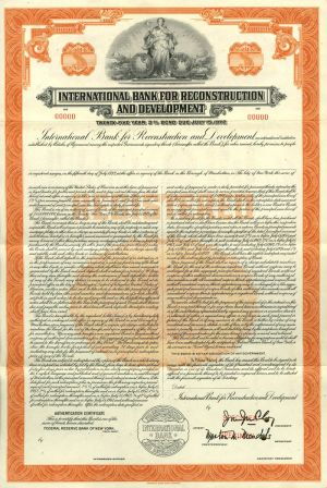 International Bank for Reconstruction and Development - SOLD