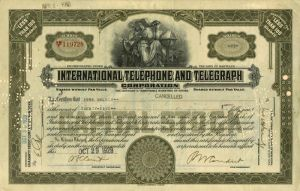 International Telephone and Telegraph Corporation  - SOLD