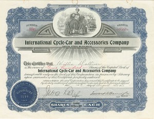 International Cycle-Car and Acccessories Company - SOLD