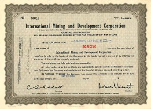 International Mining and Development Corporation
