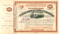 International & Great Northern Railroad Co. signed by William Marsh Rice - SOLD