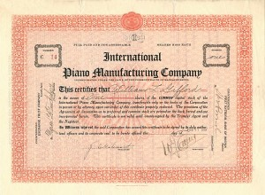 International Piano Manufacturing Company
