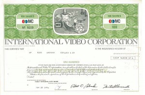 International Video Corporation - Stock Certificate