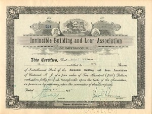 Invincible Building and Loan Association of Westwood, N.J.
