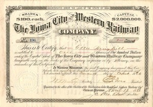Iowa City and Western Railway Company