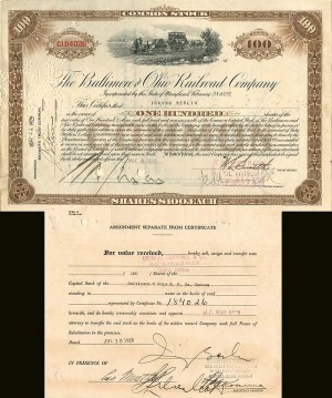 Baltimore and Ohio Railroad Company signed by Irving Berlin