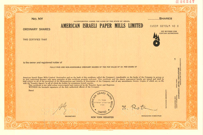 American Israeli Paper Mills Limited