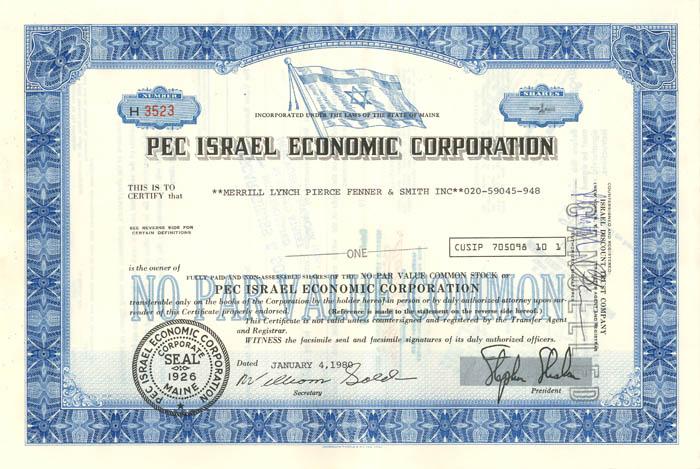 Pec Israel Economic Corporation
