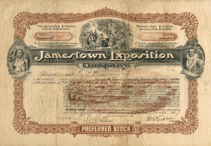 Jamestown Exposition - SOLD