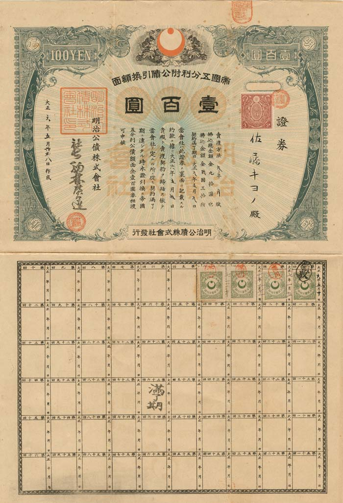 Japan World War II Treasury Bond