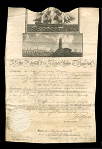 Shipping Pass signed by Thos. Jefferson and James Madison - SOLD