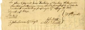 Charge for Refining Salt Petre (Gun Powder) signed by Ellsworth and Root