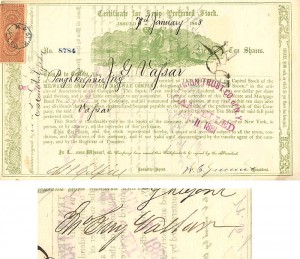 Milwaukee and St. Paul Railway Company signed by Jn. Guy Vassar