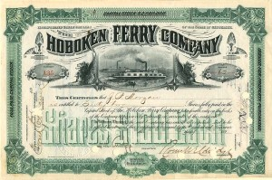 Hoboken Ferry Company Issued to J.P. Morgan - Stock Certificate