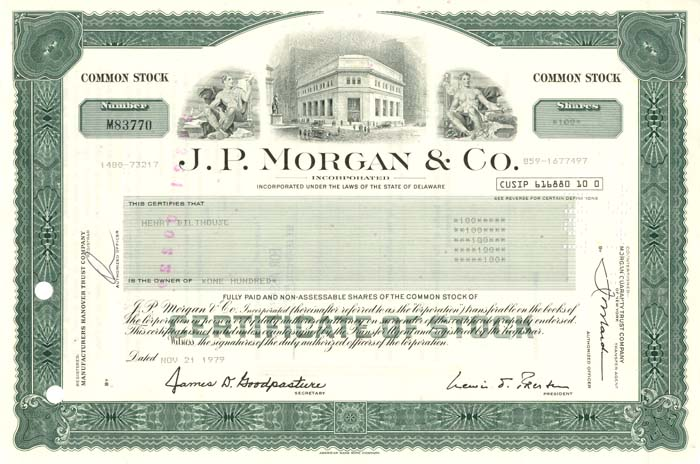 J.P. Morgan & Co. - SOLD