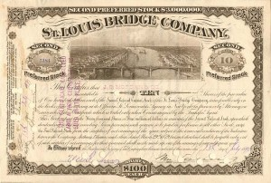 Issued to J.S. Morgan & Co. St. Louis Bridge Company