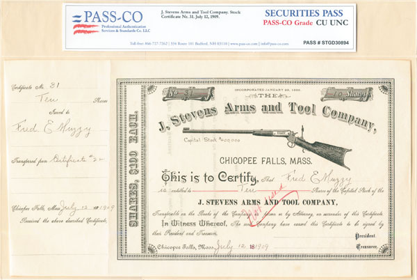 J. Stevens Arms and Tool Co - SOLD