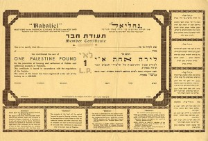 "Judaica Palestine Old Builder Member ""Nahaliel"" Fund"
