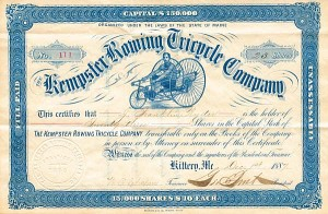 Kempster Rowing Tricycle Company - SOLD