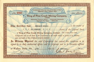 King of Pine Creek Mining Company, Limited